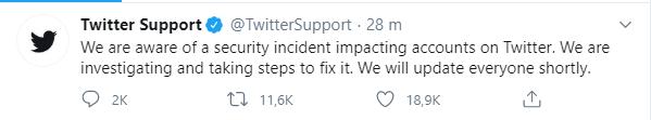 reactie Twitter hack