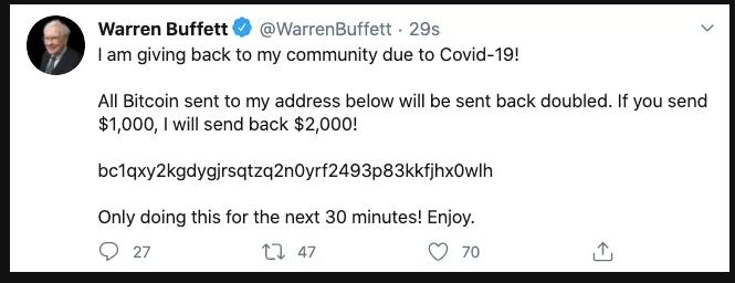 Tweet Warren Buffet Twitter hack